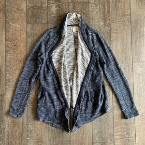 Lucky Lotus Open-Front Waterfall Draped Cardigan